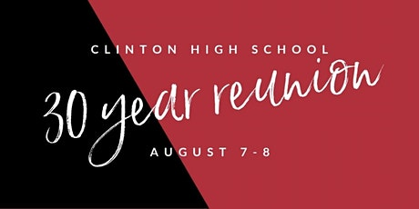 Clinton High School Class of 1990 Reunion tickets