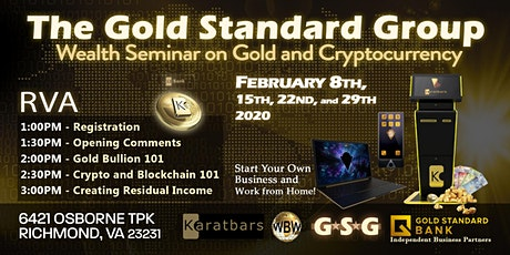 GSG Wealth Seminar on Gold and Cryptocurrency tickets