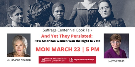 Suffrage Centennial Book Talk: And Yet They Persisted tickets