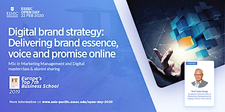 """Digital brand strategy: Delivering brand essence, voice and promise online"" - ESSEC MSc in Marketing, Management & Digital Masterclass tickets"