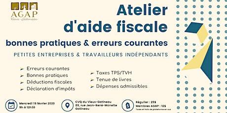 Atelier d'aide fiscale : bonnes pratiques et erreurs courantes billets