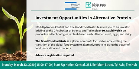 Investment Opportunities in Alternative Protein tickets