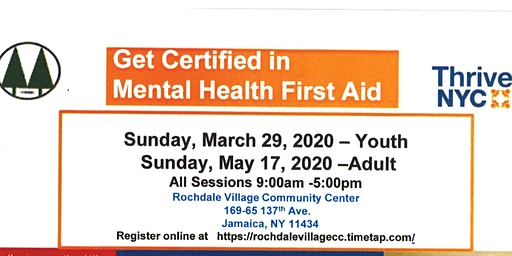 Thrive NYC: Get Certified in Mental Health First Aid
