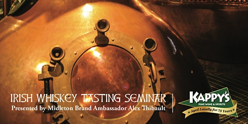 Irish Whiskey Tasting Seminar with Brand Ambassador Alex Thibault