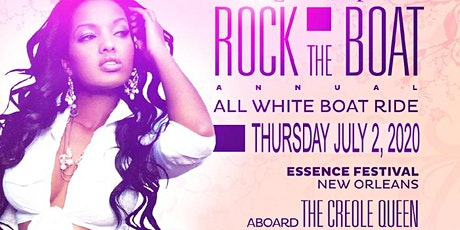 SAFAREE hosts ROCK THE BOAT 2020 THE 8th ANNUAL ALL WHITE BOAT RIDE PARTY DURING NEW ORLEANS ESSENCE MUSIC FESTIVAL tickets
