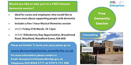 Free Bitesize Dementia Session tickets