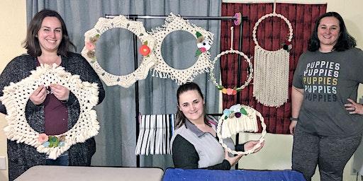 Macramé Wreath Workshop with Rosé and Macramé