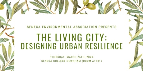 The Living City: Designing Urban Resilience tickets