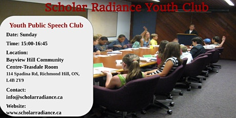 Scholar Radiance Youth Public Speech - Free Trial Class tickets
