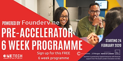 OneTech and The South London Innovation Corridor – Pre Accelerator Business