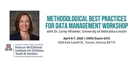 Methodological Best Practices for Data Management Workshop tickets