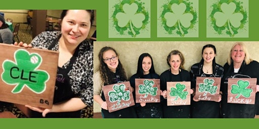 Your choice of Pre-Traced Wood Painting in Willoughby. Fun Paint Night.