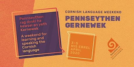 Pennseythen Gernewek / Cornish Language Weekend 2020 (Kowethas member) tickets