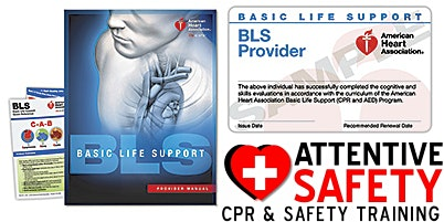 BLS Provider Class, $100, Same day AHA card.
