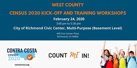 CoCo Census West Census 2020 Kick-Off and Training Workshop tickets