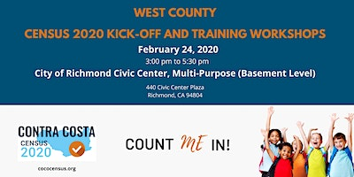 CoCo Census West Census 2020 Kick-Off and Training Workshop