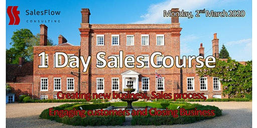 Sales Course  - Improve your Sales teams results - (1 day refresher course)