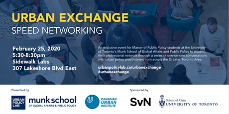 Urban Exchange : Speed Networking Event 2020 tickets