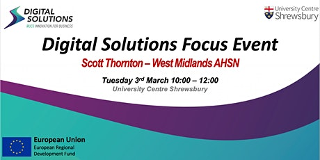 POSTPONED Digital Solutions Focus Event - The AHSN Network tickets