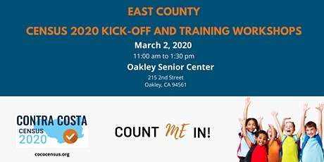CoCo Census East Census 2020 Kick-Off and Training Workshop tickets
