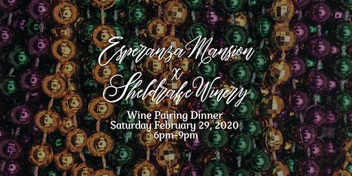 Esperanza Mansion and Sheldrake Point Wine Pairing Dinner