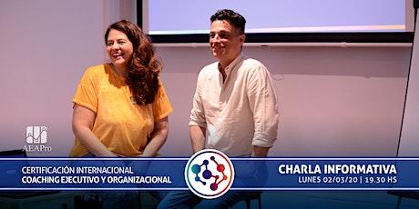 Charla Informativa - Certificación Internacional Coaching Organizacional entradas