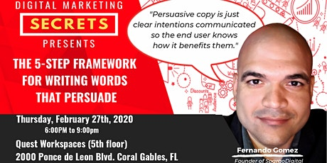 The 5-step Framework For Writing Words That Persuade tickets