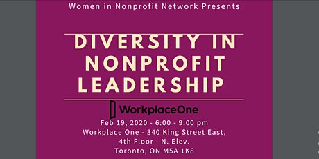 Diversity in Nonprofit Leadership tickets
