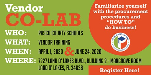 Vendor Co-LAB with Pasco County Schools