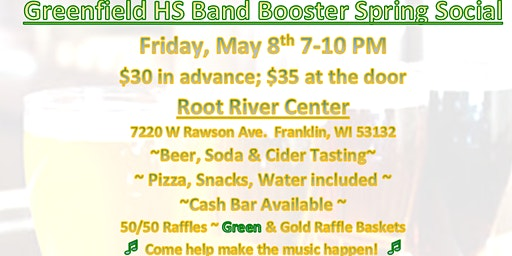Greenfield HS Band Booster Spring Social