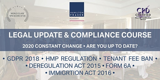 Legal update & compliance course (MARCH) - Hamilton Fraser Academy