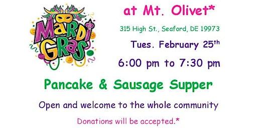 Mardi Gras Family Pancake & Sausage Supper