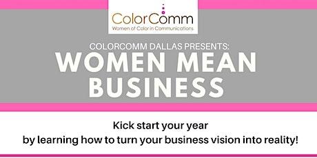 Women Mean Business Panel tickets