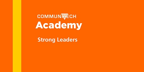 Communitech Academy: Strong Leaders - Fall 2020 tickets