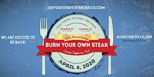 10th Annual Burn Your Own Steak Night