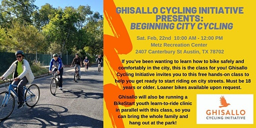 Ghisallo Cycling Initiative Presents:  Beginning City Cycling #1