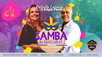 "Samba de Máscaras com Rafaella Laranja & Edgar Pereira no ""History Nosso Bar"""