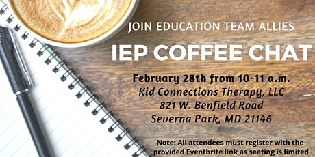 IEP Coffee Chat tickets