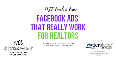 Facebook Ads that Really Work for Real Estate Lunch & Learn tickets