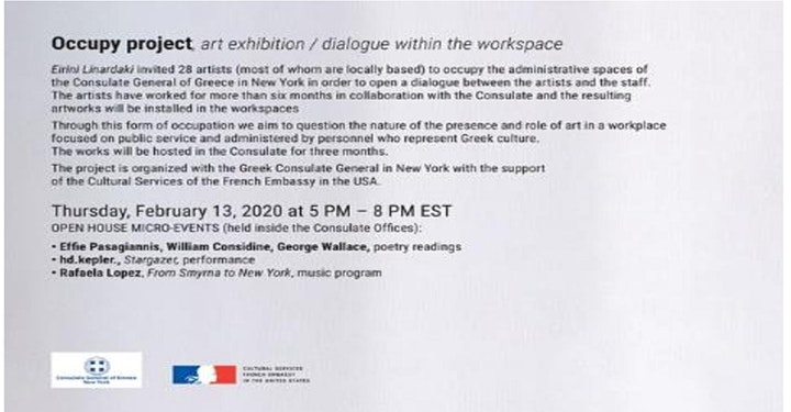 """Invitation to the opening of """"Occupy Project"""" image"""