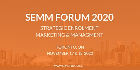Strategic Enrolment Marketing & Management Forum 2020 tickets