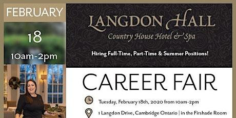 Langdon Hall Career Fair tickets