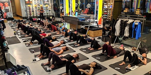 Yoga for Runners Class at the ASICS 5th Avenue Flagship