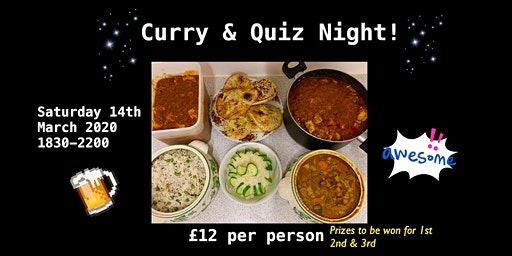 Curry & Quiz Night At Daisy's Tea Rooms & Coffee Shop!
