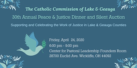 30th Annual Peace & Justice Dinner and Silent Auction tickets