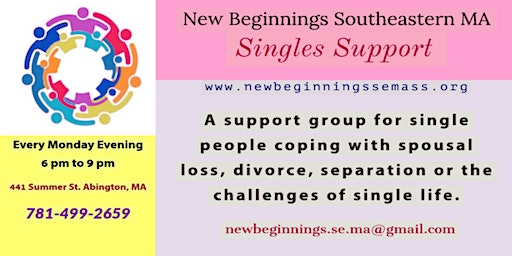 Singles Support-New Beginnings Southeastern MA