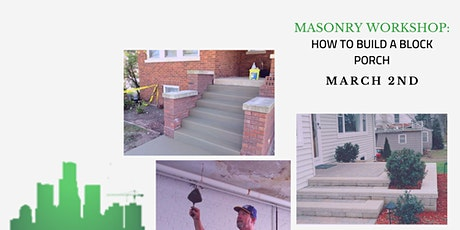 How To Build A Block Porch For Your Income Property Or Home tickets