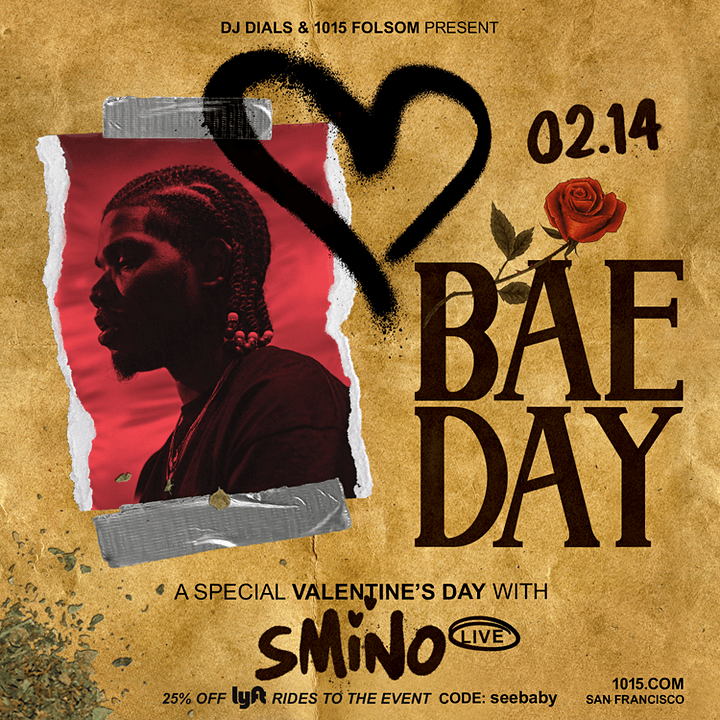 Valentine's Day with SMINO live at 1015 Folsom image