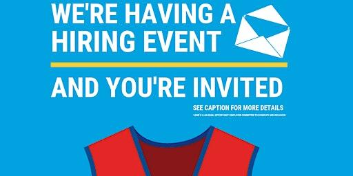Lowe's Spring Hiring Event – Appleton, WI