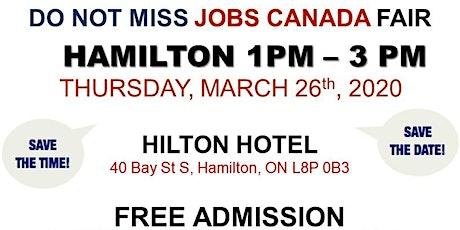 Hamilton Job Fair –   March 26th, 2020 tickets
